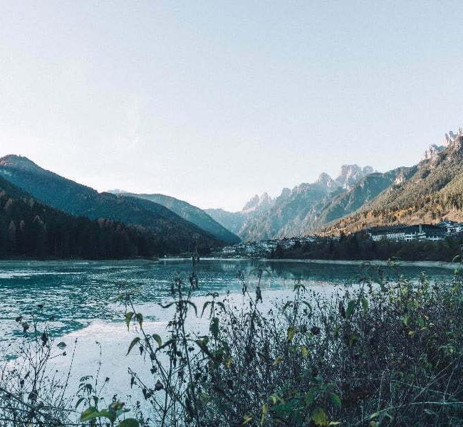 Lago di Auronzo per bambini passeggino