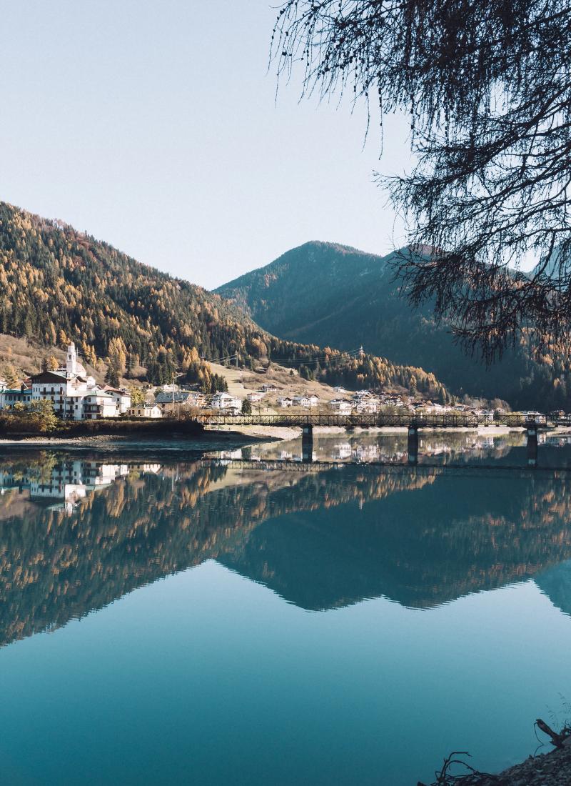Lago di Auronzo con il passeggino