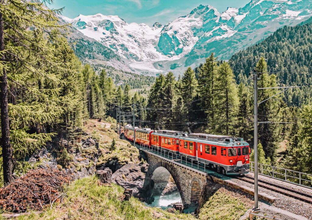 Trenino Bernina con i bambini