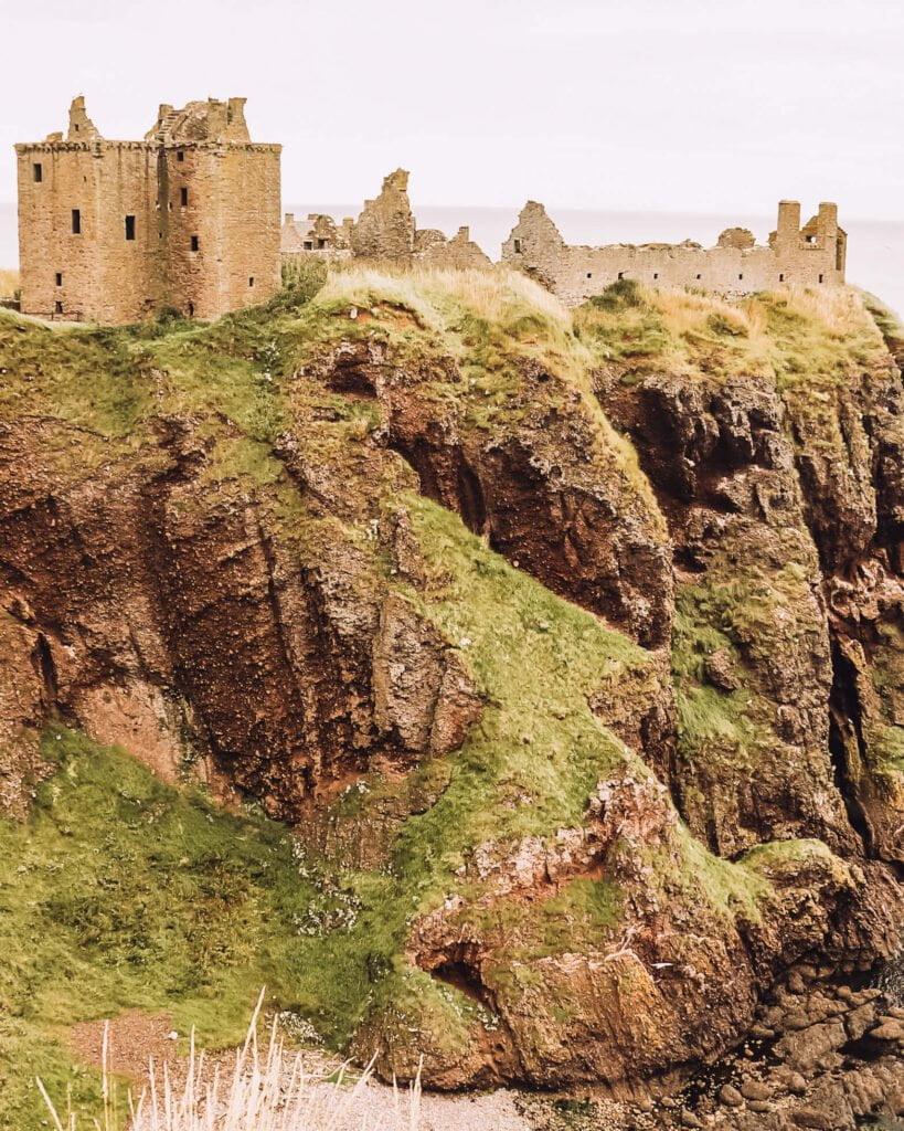 Dunottar Castle Scozia con bambini